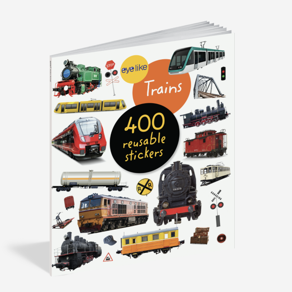 WORKMAN EYELIKE TRAINS 400 REUSABLE STICKERS