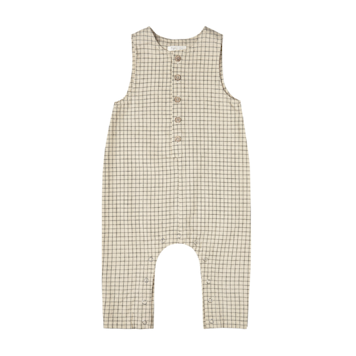 RYLEE AND CRU BUTTON JUMPSUIT IN GRID