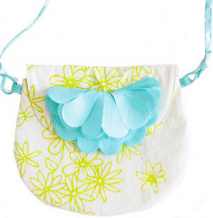 EVERBLOOM EVERBLOOM GREEN FLORAL AVA PURSE