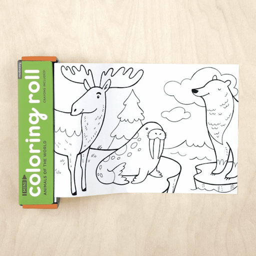 HACHETTE MUDPUPPY ANIMALS OF THE WORLD COLORING ROLL