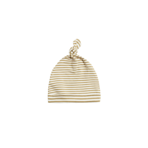 QUINCY MAE ORGANIC BRUSHED JERSEY KNOTTED  BABY HAT - BB1108403