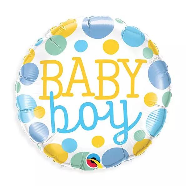 BABY BOY DOTS BALLOON