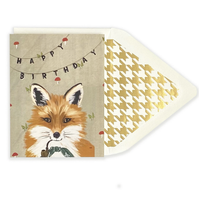 THE FIRST SNOW DISTINGUISHED FOX HAPPY BIRTHDAY