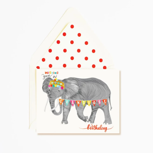 THE FIRST SNOW GRANDIOUS BIRTHDAY CARD