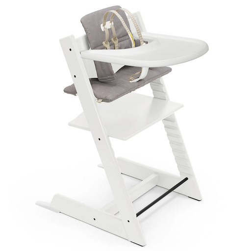STOKKE TRIPP TRAPP  COMPLETE HIGH CHAIR WHITE /ICON GREY