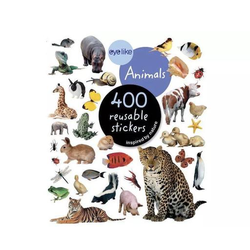 WORKMAN EYELIKE ANIMALS  400 REUSABLE STICKERS
