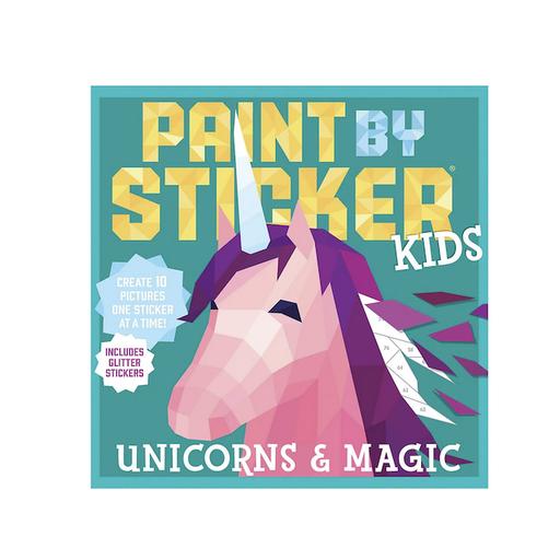 WORKMAN PAINT BY STICKER KIDS UNICORNS & MAGIC