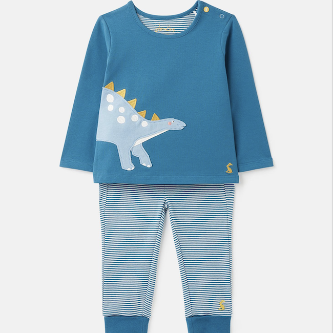 JOULES BYRON ORGANICALLY GROWN COTTON JERSEY APPLIQUE SET
