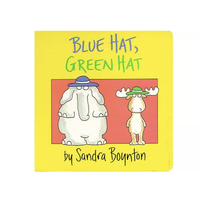 SIMON & SCHUSTER BLUE HAT, GREEN HAT