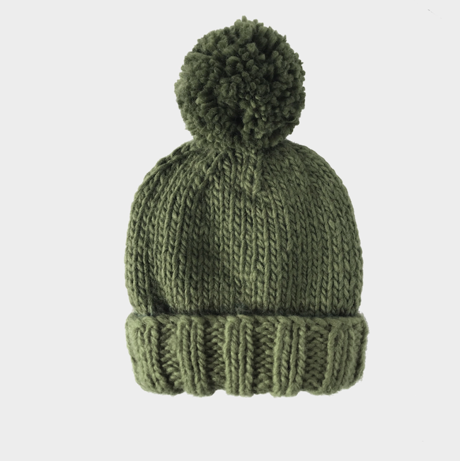 THE BLUEBERRY HILL CLASSIC HAND-KNIT POM HAT