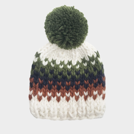THE BLUEBERRY HILL WILL STRIPE HAND-KNIT HAT
