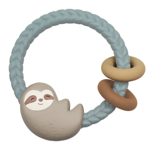 ITZY RITZY RITZY RATTLE SILICONE TEETHER SLOTH RATTLE