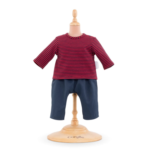 COROLLE STRIPED T-SHIRT AND PANT SET FOR 12 INCH DOLL