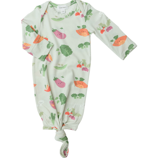ANGEL DEAR VEGGIE FAMILY KNOTTED GOWN