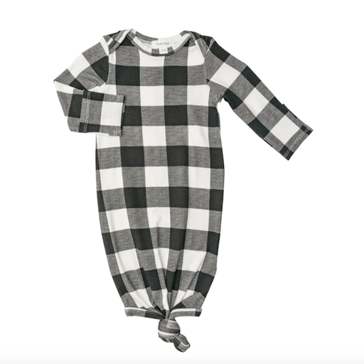 ANGEL DEAR BUFFALO CHECK KNOTTED GOWN