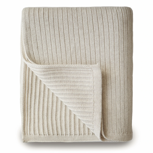 MUSHIE KNITTED RIBBED BABY BLANKET