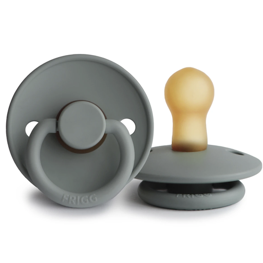MUSHIE FRIGG NATURAL RUBBER PACIFIER-FRENCH GRAY