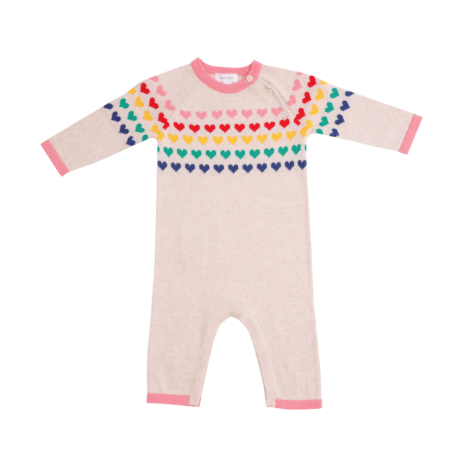 ANGEL DEAR 880S HEARTS KNIT COVERALL