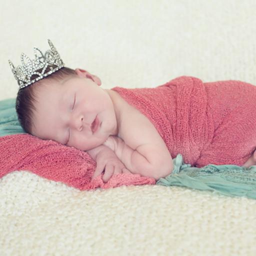 THE DAISY BABY RHINESTONE TIARA WITH CLEAR STONES