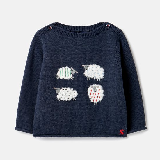 JOULES BARNEY ARTWORK KNITTED SWEATER -SHEEP