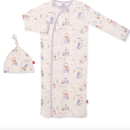 MAGNETIC ME OWL LOVE YOU FOREVER MAGNETIC GOWN & HAT SET