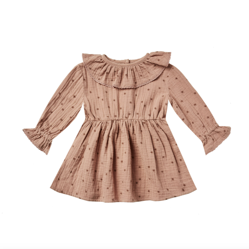 RYLEE AND CRU RUFFLE COLLAR BABY DRESS IN NORTH STAR-BABY