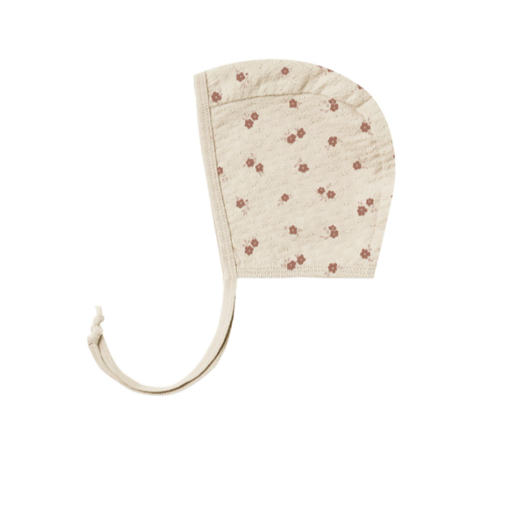 QUINCY MAE POINTELLE BABY BONNET IN PETITE FLORAL