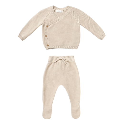 QUINCY MAE KNIT WRAP TO  AND PANT SET