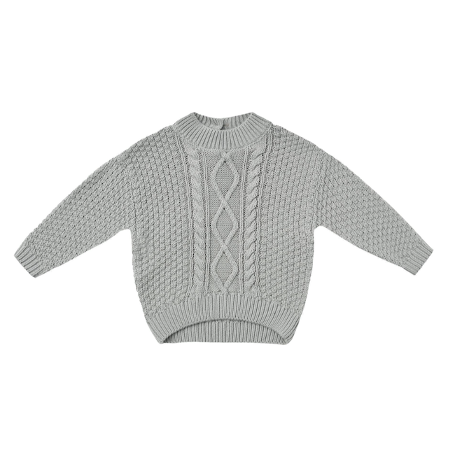 QUINCY MAE CABLE KNIT SWEATER - BABY