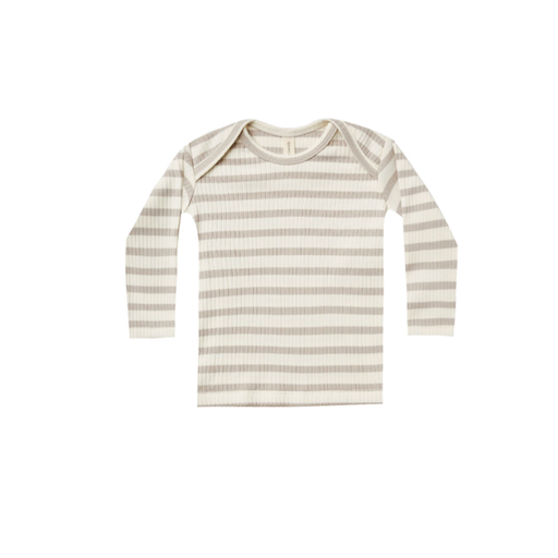 QUINCY MAE ORGANIC RIBBED LAP TEE-TODDLER
