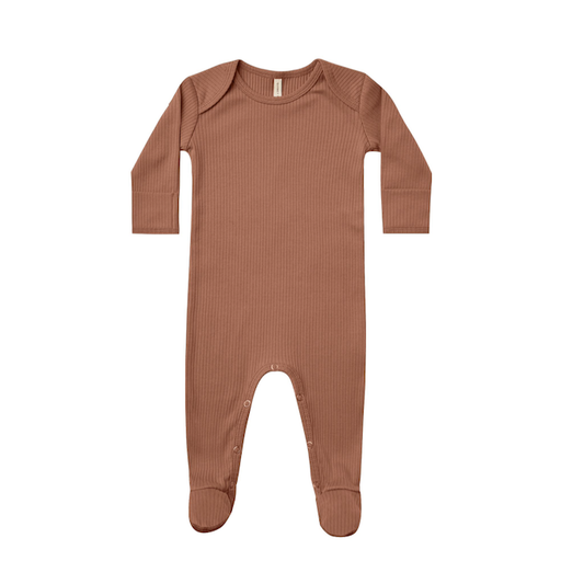 QUINCY MAE ORGANIC RIBBED FOOTIE