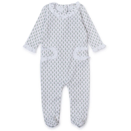 LILA + HAYES LUCY ROMPER IN TINY TREES PINK
