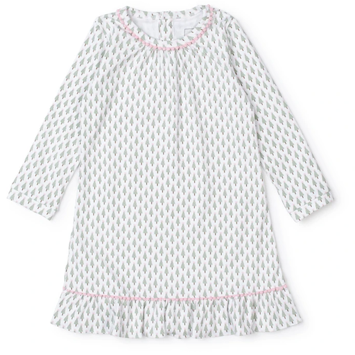 LILA + HAYES CARLIN DRESS IN TINY TREES PINK - GIRL