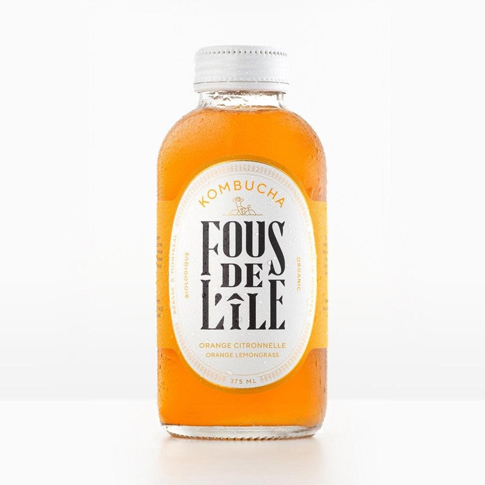 Kombucha Fous De L'Île-Orange Citronnelle