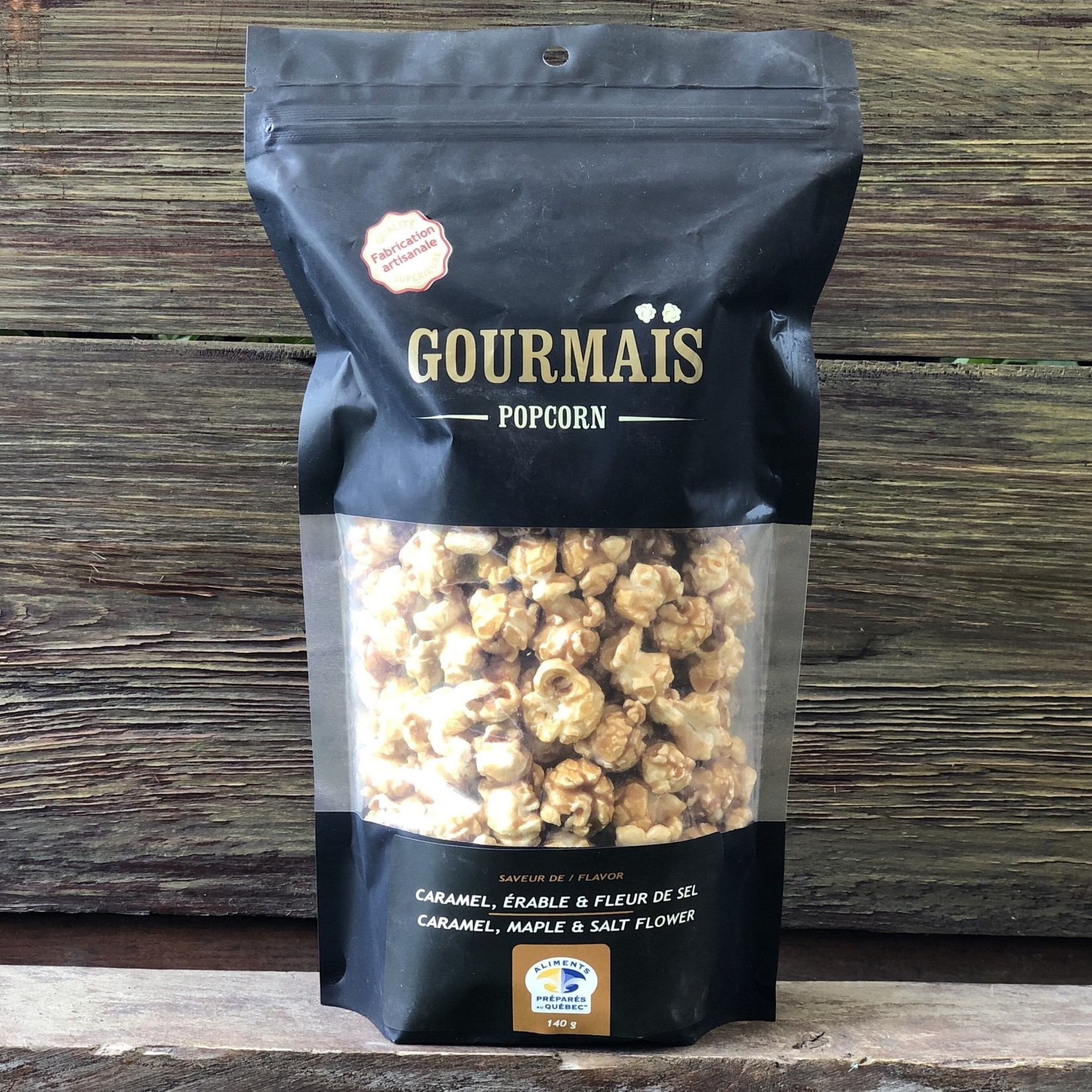 Popcorn Gourmais - Caramel, Érable & Fleur de sel