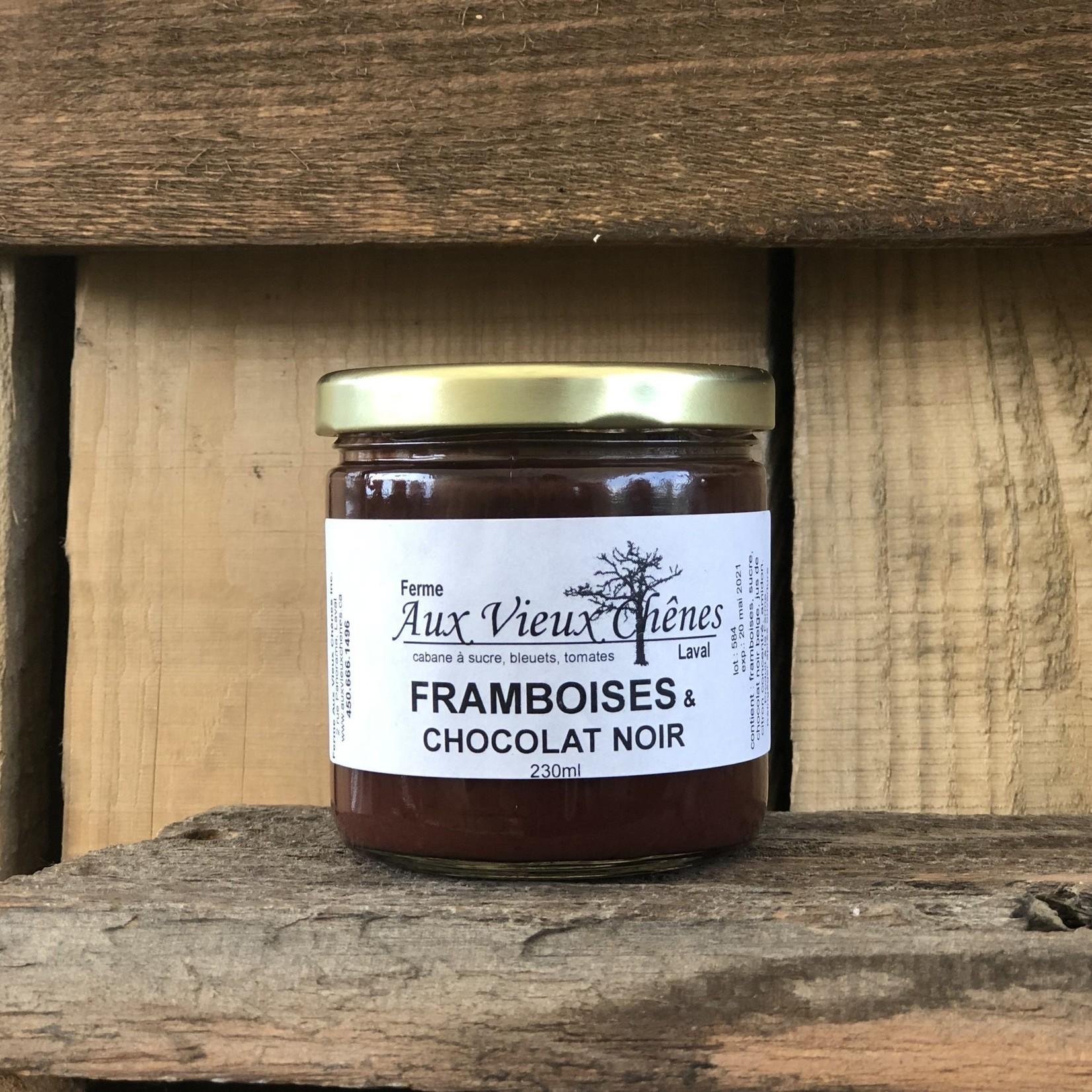 Aux Vieux Chênes Tartinade Framboise & Chocolat Noir