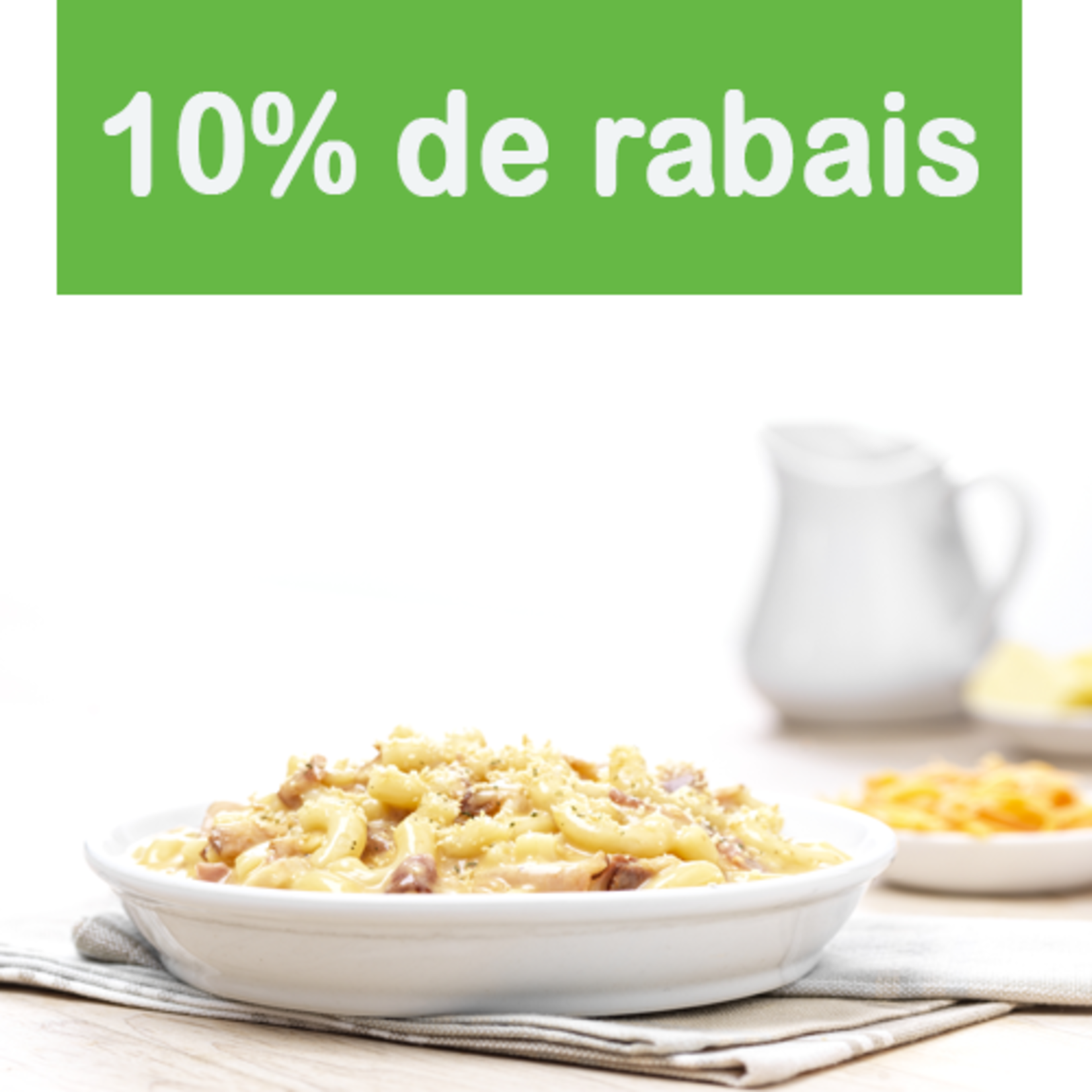 Mac and Cheese - 3 Fromages et Bacon (1.4kg)