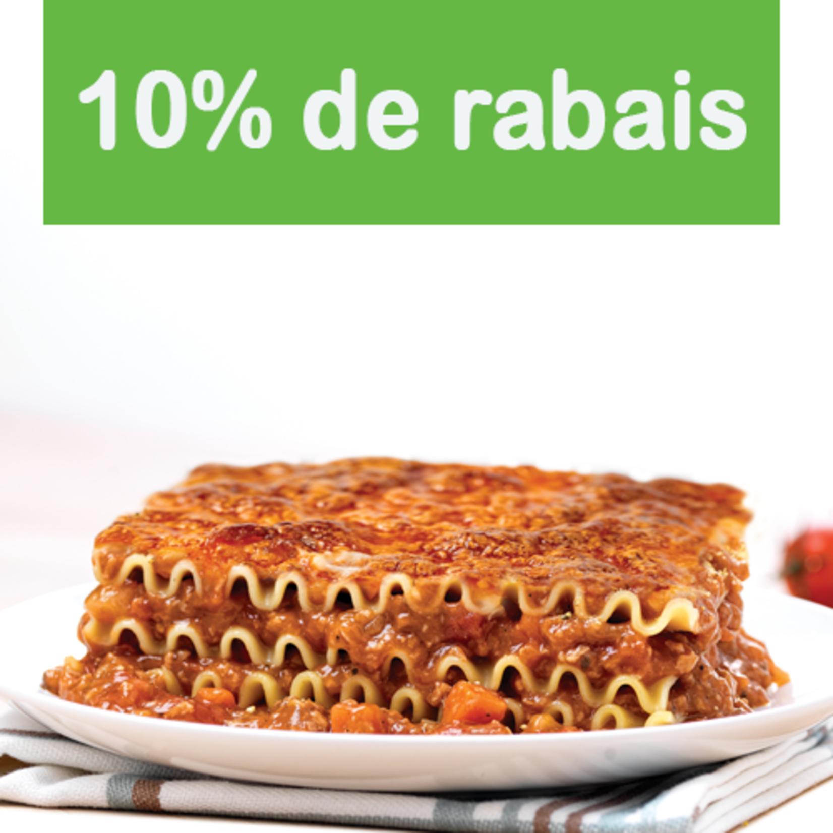 Au Fin Palais Lasagne végétarienne (1.4kg)