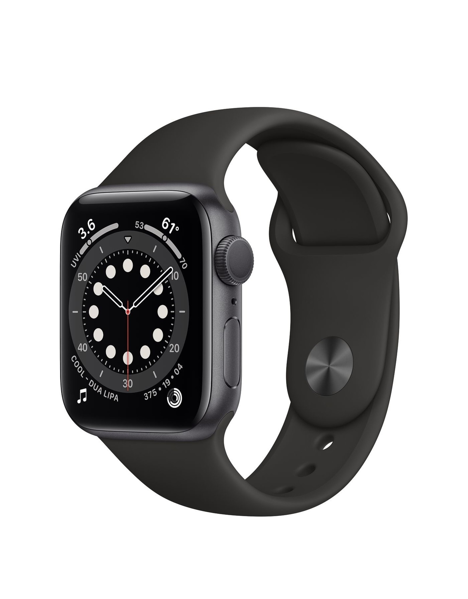 Apple WATCH SERIES 6 GPS + CELL - 44MM SPACE GREY ALM CASE BLACK SPORT BAND