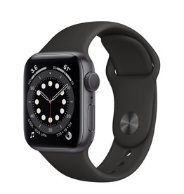 Apple WATCH SERIES 6 GPS + CELL- 40MM SPACE GRAY ALM CASE WITH BLACK SPORT BAND