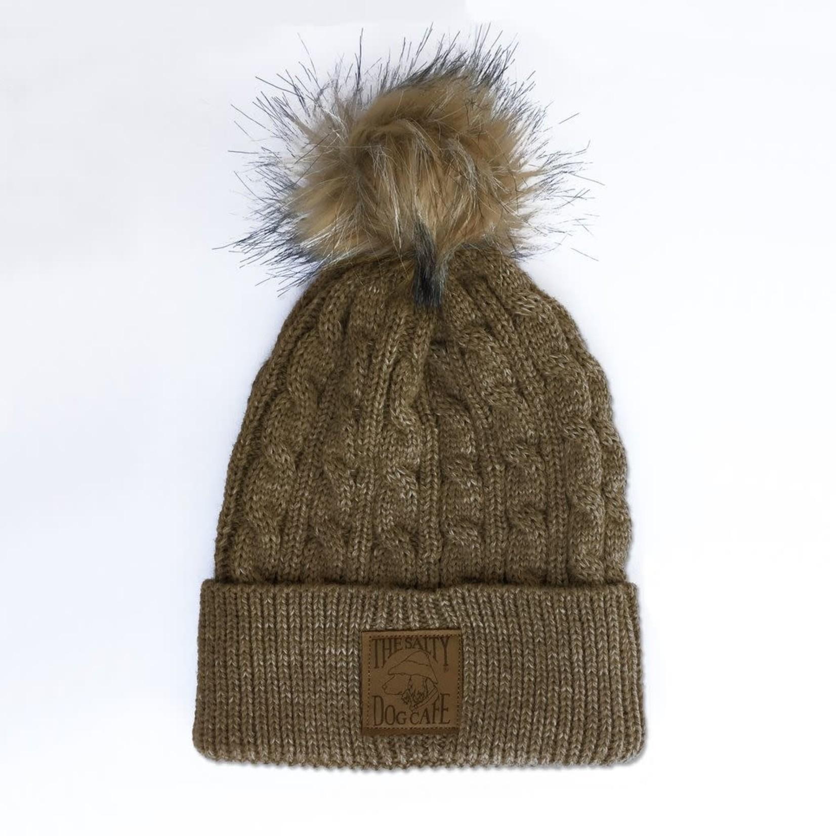 Beanie - Cable Knit Pom, Hazel
