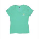 Bohicket Women's Triblend V-Neck S/S Breezy Green