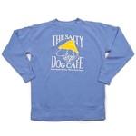 Sweatshirt-Stonewash Flo Blue