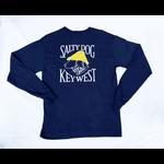 KW Hanes Beefy L/S Navy