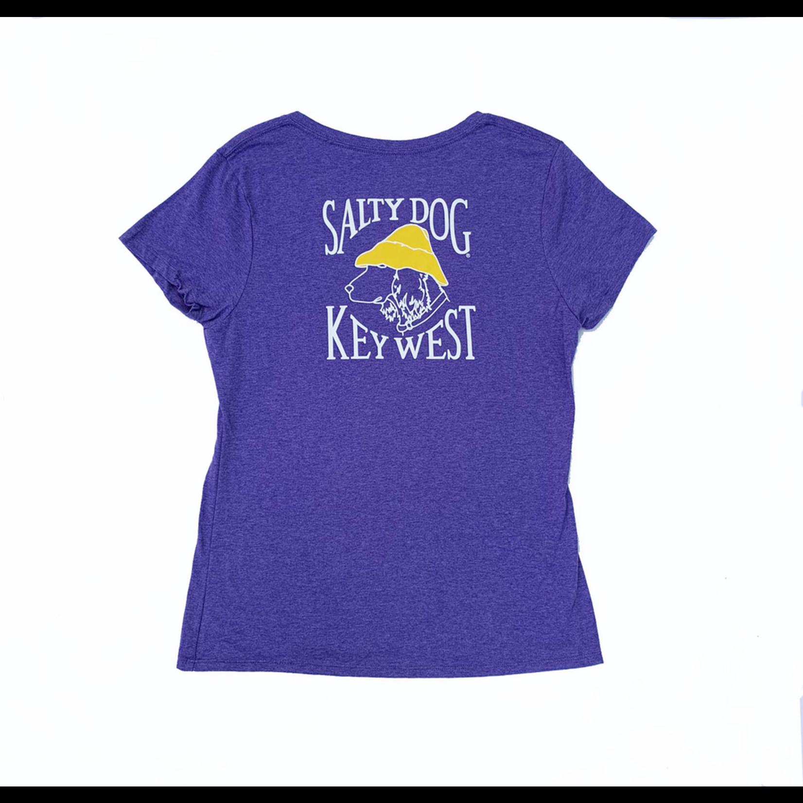 KW Women's Triblend V-Neck S/S Grape
