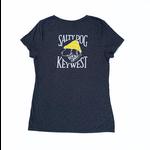KW Women's Triblend V-Neck S/S Slate