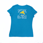 KW Women's Triblend V-Neck S/S Turquoise