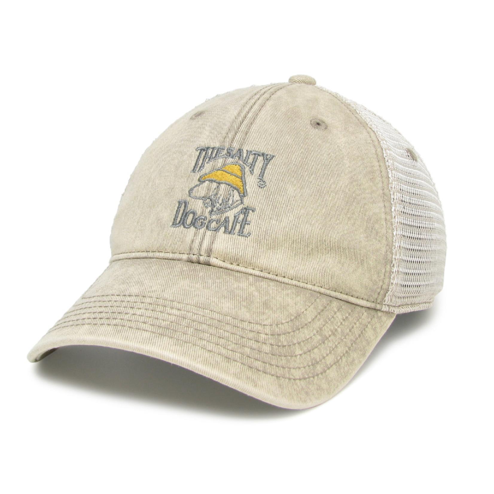 Hat - Washed Denim Trucker, Stone, Adult