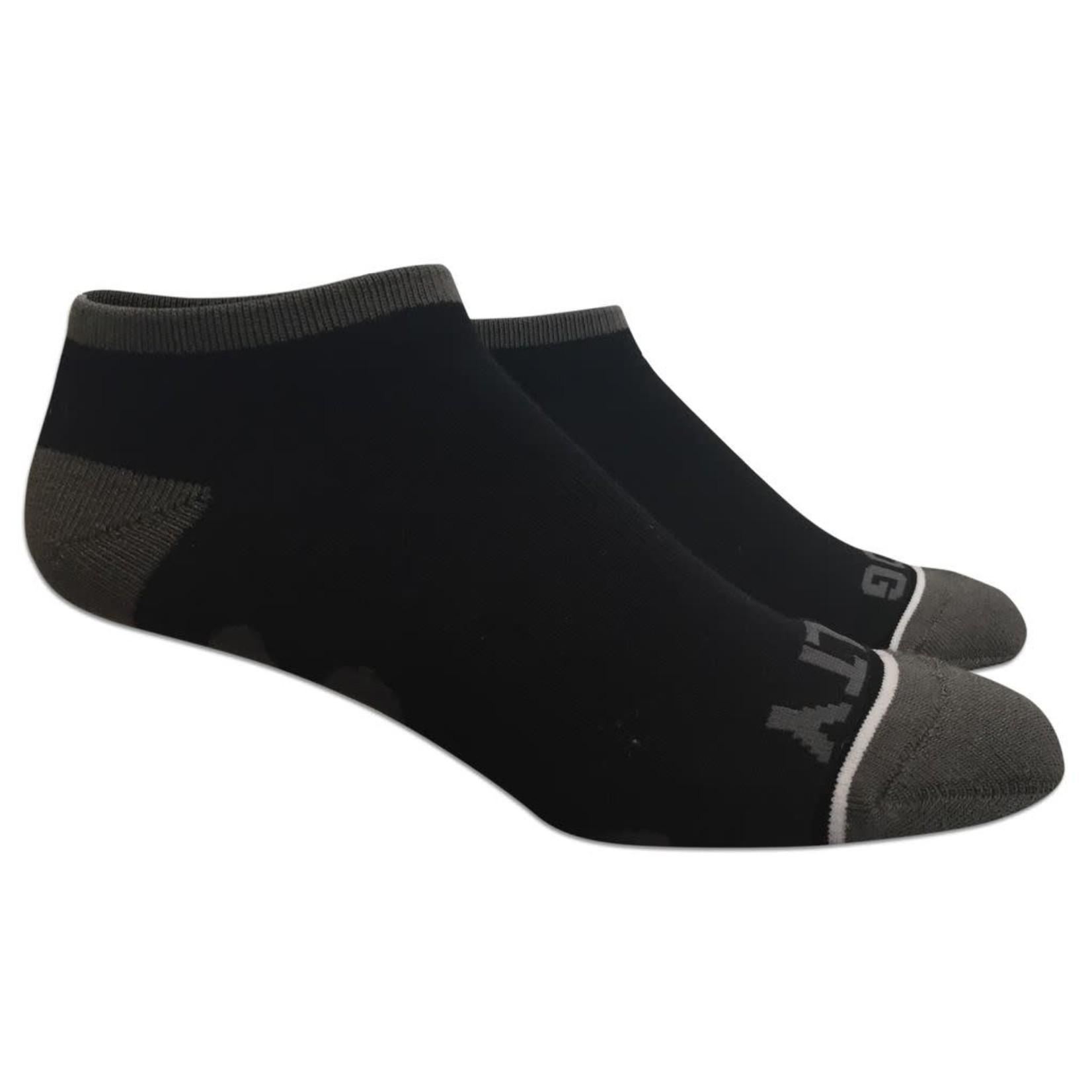 Socks-No Show Black/Gray