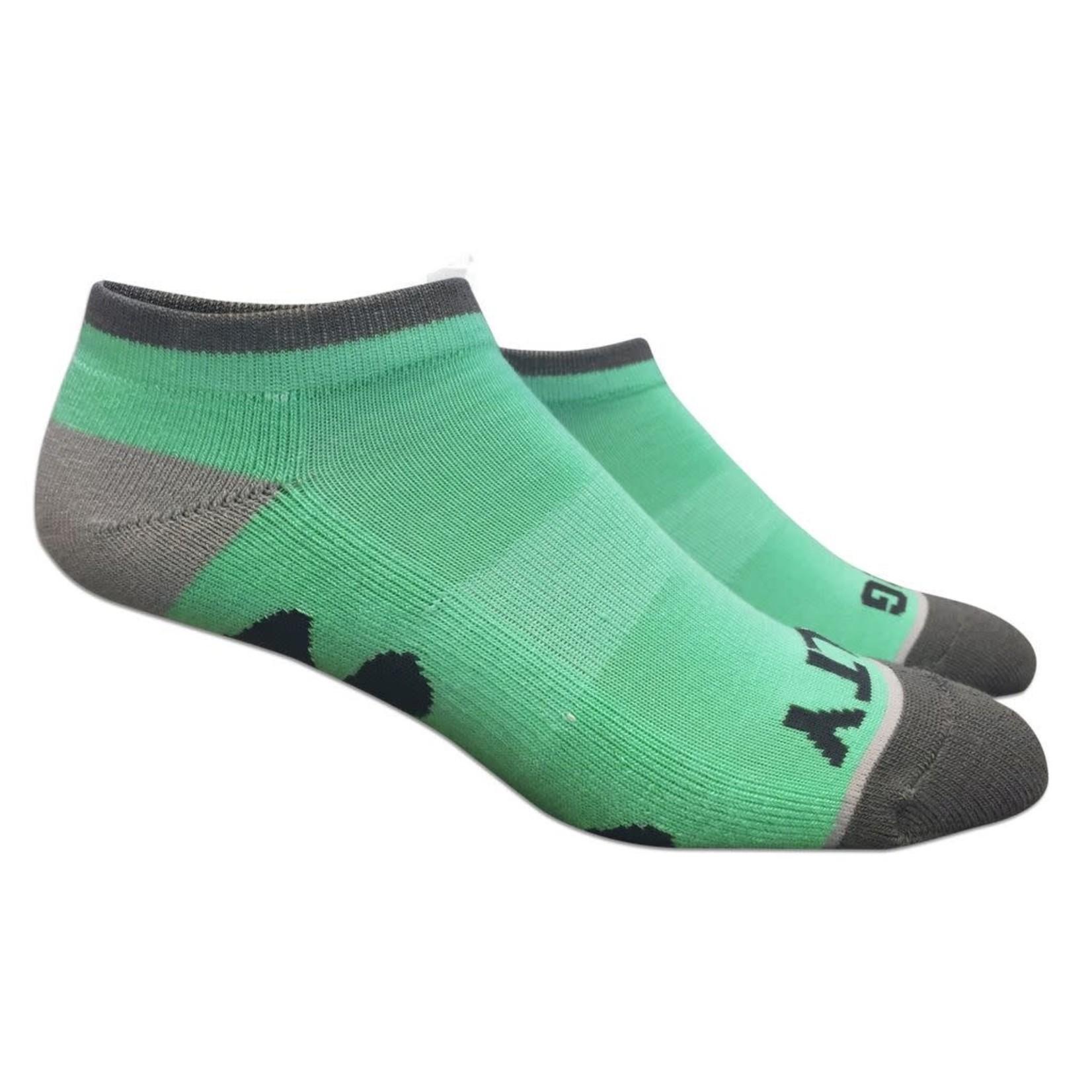 Socks-No Show Seagrass/Grey